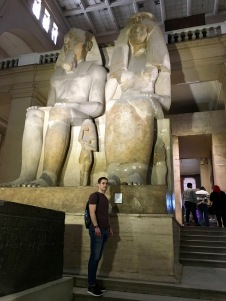 At the Egyptian museum