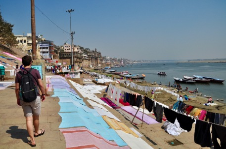 Laundry on the Ganges banks