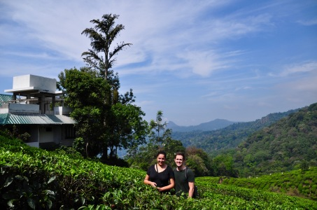 Us in the Munnar tea plantations