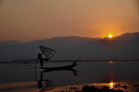 Sunrise on Inle Lake
