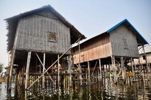 Bamboo stilt houses