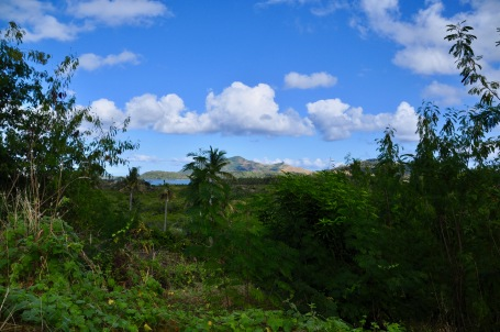 The walk to the Blue Lagoon