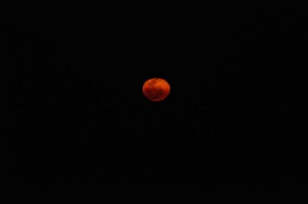 Fiery super moon
