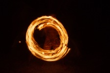 Fire dancing at Gold Coast