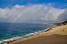 A rainbow over Rainbow beach!