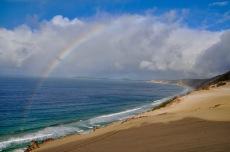 A rainbow over Rainbow beach!