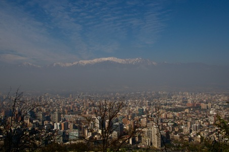 Santiago city surrounded by the Andes