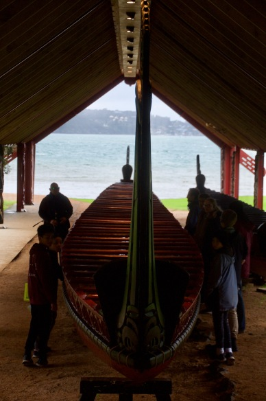 War canoes, Waitangi