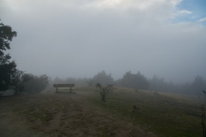 Fog at the top of Mount Iron