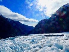 Blue ice of Franz Josef