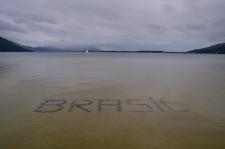 Brasil in the ocean