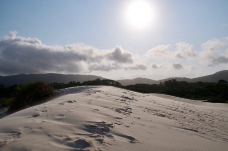Sunset on the sand dunes