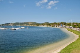 The beach of Lagoa da Conceicao