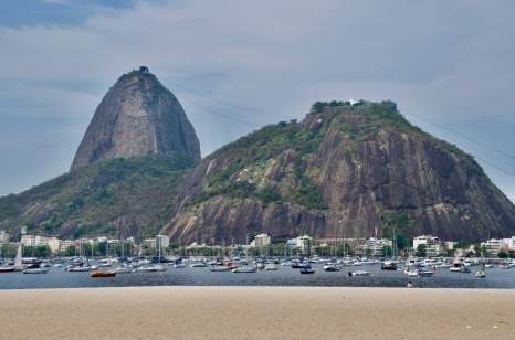 Botafogo beach looking out to Sugar Loaf