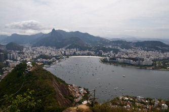 Top of Sugar Loaf overlooking Botafogo beach