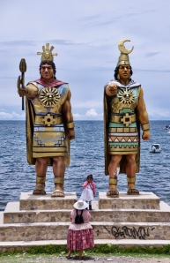 Copacabana Inca statues