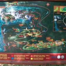 Map of Iguacu falls, Argentina walking trails