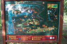 Map of Iguacu falls, Argentina walking trails