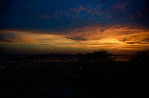 Sunset overlooking Posadas, Argentina
