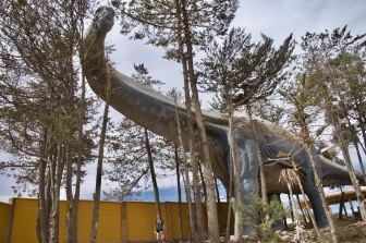 Titanosaurus with Dave to scale