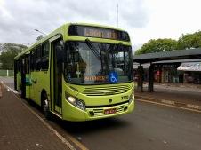 Brazilian bus from Foz do Iguazu to the falls