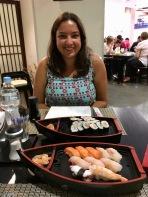 Boat loads of sushi at Hiroshima