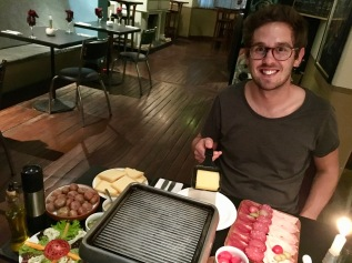 Swiss Raclette dinner!
