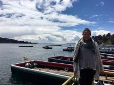 Crossing lake Titicaca