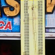 Bus timetable from Puerto Iguacu to Cataratas (the falls)
