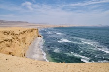 Pacific Ocean on the Paracas reserve