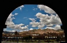 Mountains surrounding Cusco