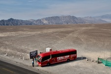 Nasca lines to scale with Peru Hop bus