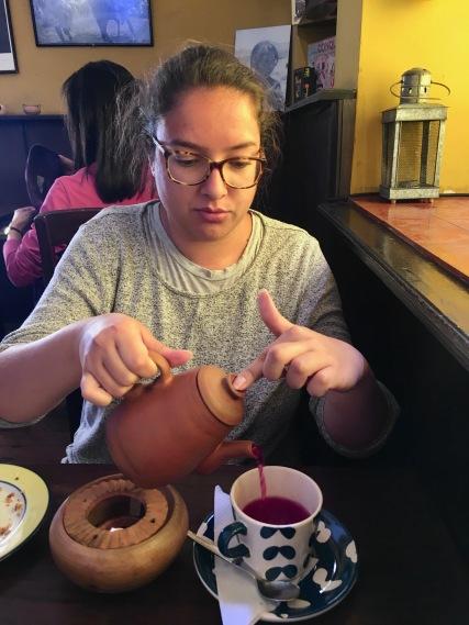 Andean tea (spearmint, coca, airampo and eucalyptus)
