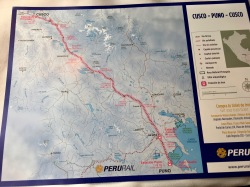 The route of the Titicaca