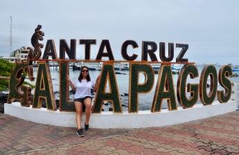 Sophie with the Santa Cruz sign