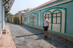 Colourful street of Las Peñas