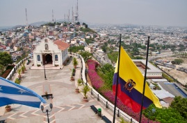 View from the lighthouse overlooking Guayaquil