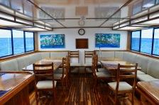 Eden Yacht dining area