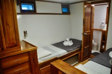 Our twin cabin on the Eden Yacht