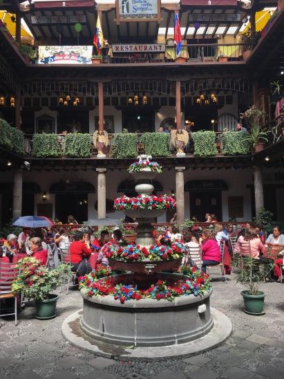 Beautiful restaurant setting in Quito